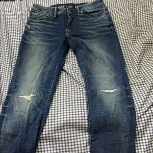 American Eagle jeans with rips